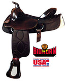 "16"" Big Horn cordura Roping Saddle Brown - [product_type} - Hamps Saddle & Tack"