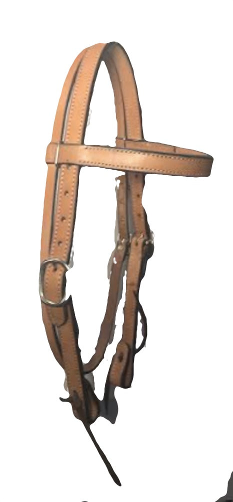 1inch Headstall with Brow Band - [product_type} - Hamps Saddle & Tack