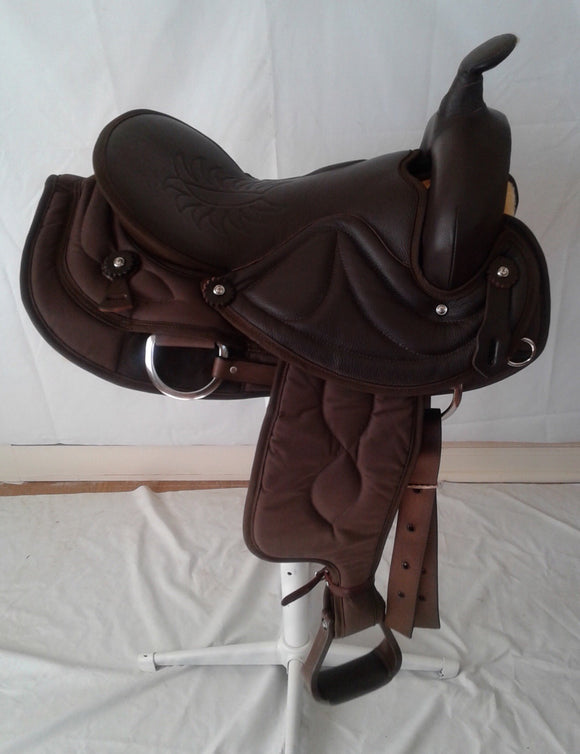 Big Horn 7958 16 inch Trail Saddle - [product_type} - Hamps Saddle & Tack