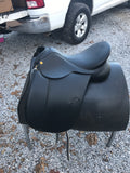 B.T. Crump  Black Dressage Riding Saddle #806  med tree - [product_type} - Hamps Saddle & Tack
