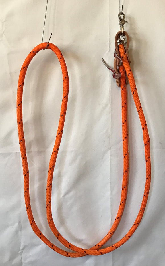 9 ft Poly Roping Rein with Trigger Snaps - [product_type} - Hamps Saddle & Tack