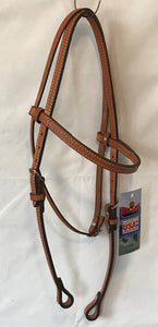 Brow Band Headstall with fan  design - [product_type} - Hamps Saddle & Tack