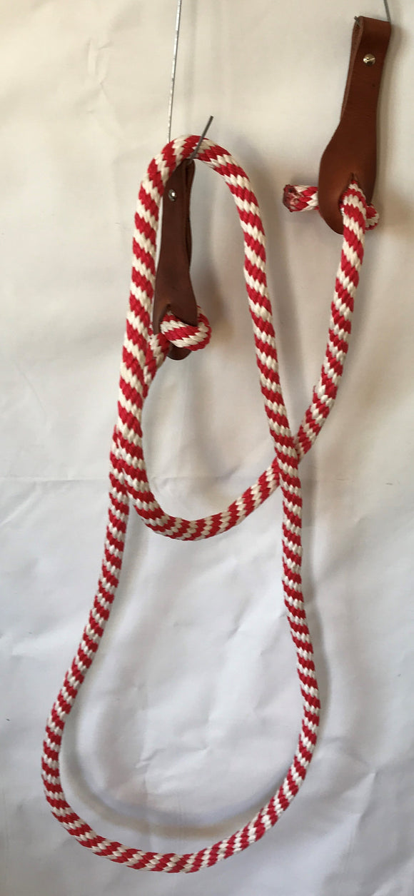 9 Ft One Piece Rope Rein with Slobber Guard - [product_type} - Hamps Saddle & Tack