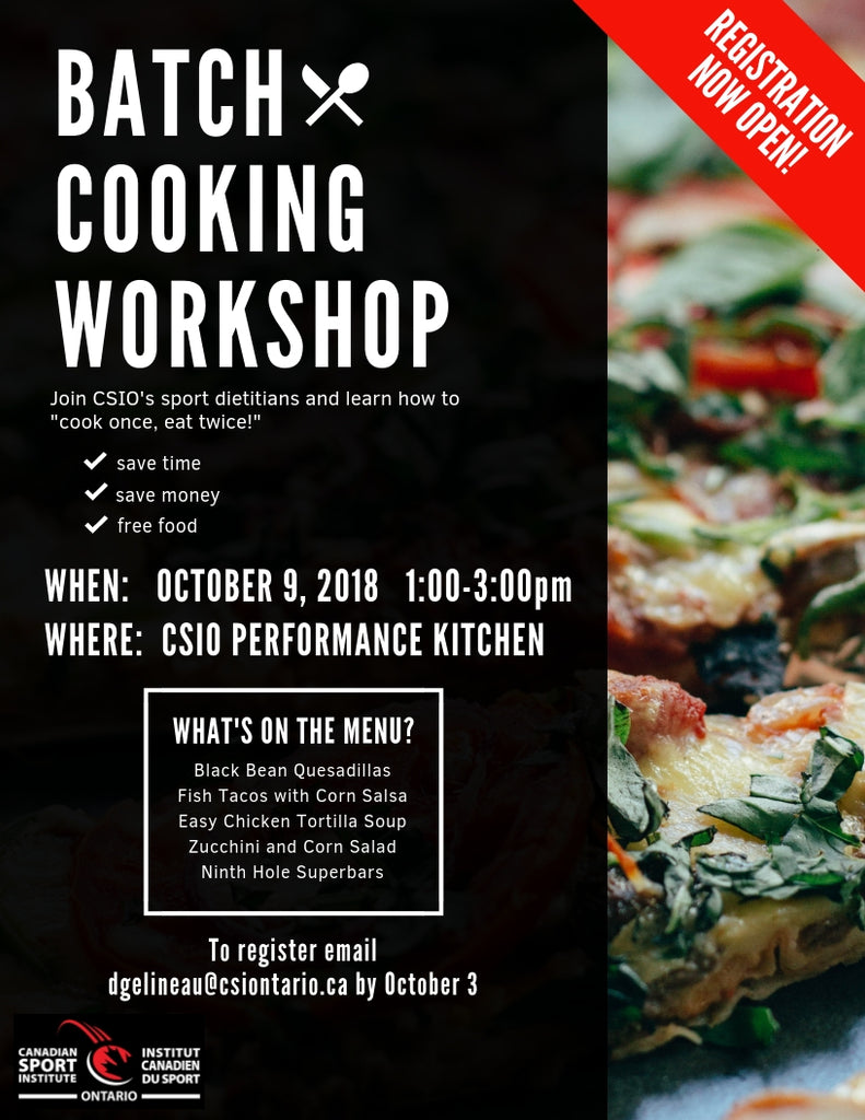 Batch Cooking Workshop - October 9, 2018