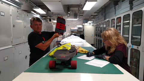 Jack Smith submitting Old Bones Therapy Knee Braces to the Smithsonian