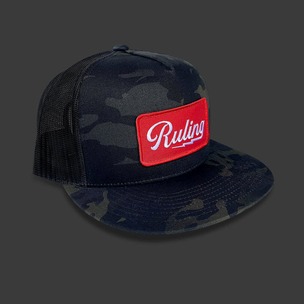 Ruling Lightning Trucker Hat (Black Camo)