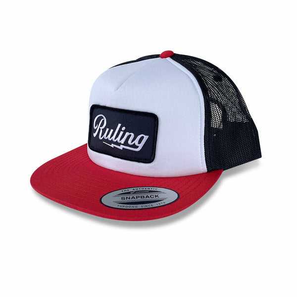 Ruling Lightning Trucker Hat (Red/White/Black)