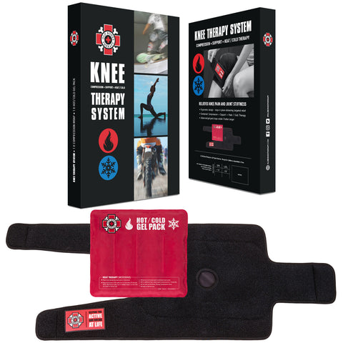 Knee Therapy System : Compression + Support + Heat / Cold