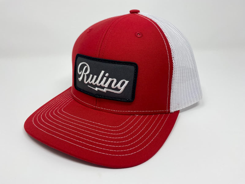 Ruling Lightning Trucker Hat (Red)