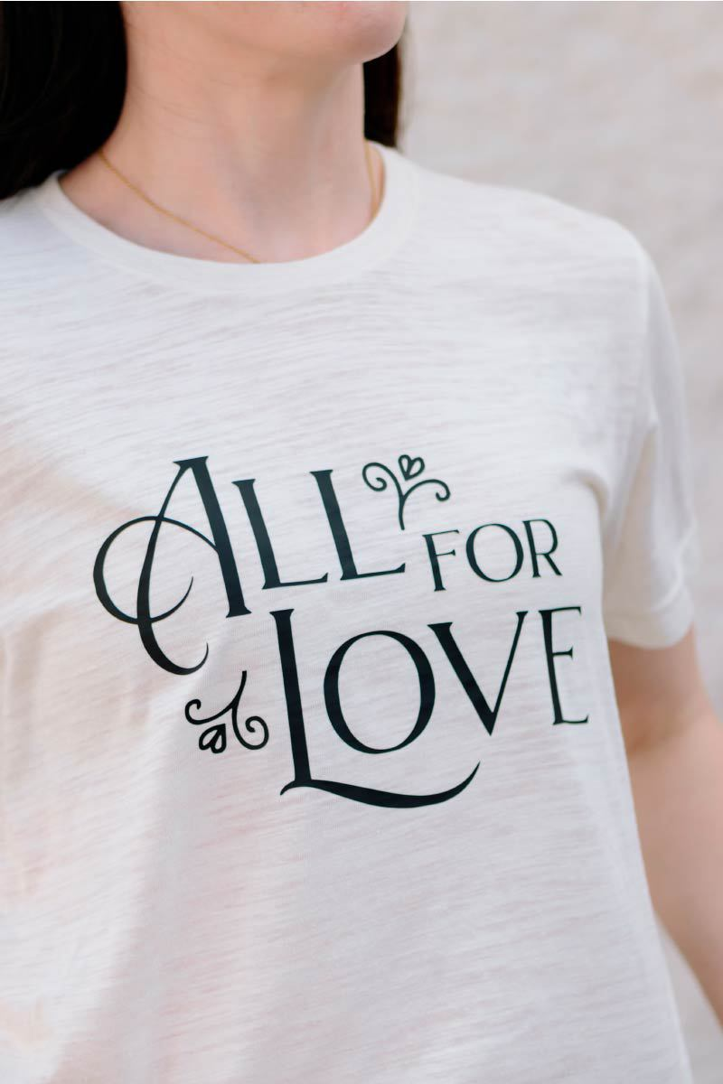 Mops - All For Love Adult T-Shirt Apparel