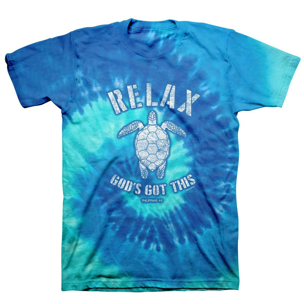 Kerusso Christian Tie Dye T-Shirt Relax Turtle T-Shirts