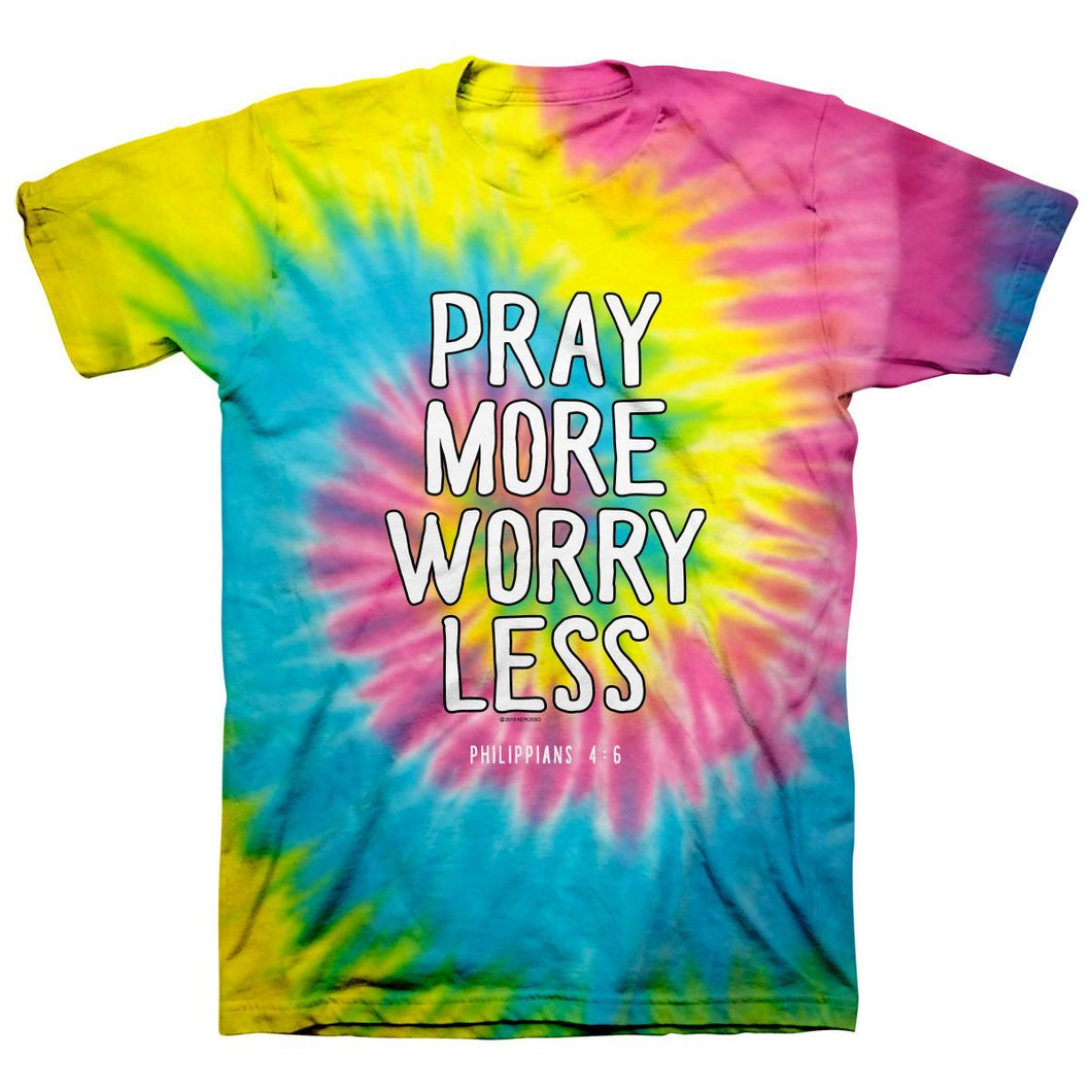 Kerusso Christian Tie Dye T-Shirt Pray More Spiral