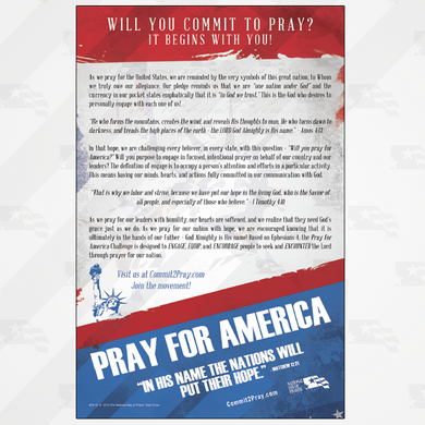NDP Pray For America Flyers (Pkg of 100)