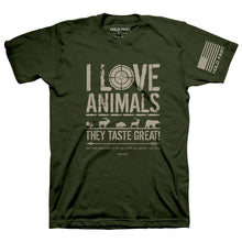 Load image into Gallery viewer, HOLD FAST Christian T-Shirt Eating Animals