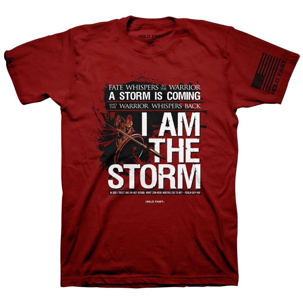 HOLD FAST Christian T-Shirt I Am The Storm Psalm 56:4