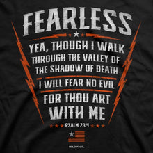 Load image into Gallery viewer, HOLD FAST Christian T-Shirt Psalm 23:4 Fearless