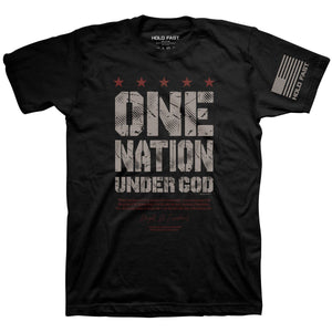 HOLD FAST Christian T-Shirt Eisenhower One Nation Under God