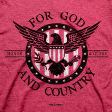 Load image into Gallery viewer, HOLD FAST Mens T-Shirt For God And Country