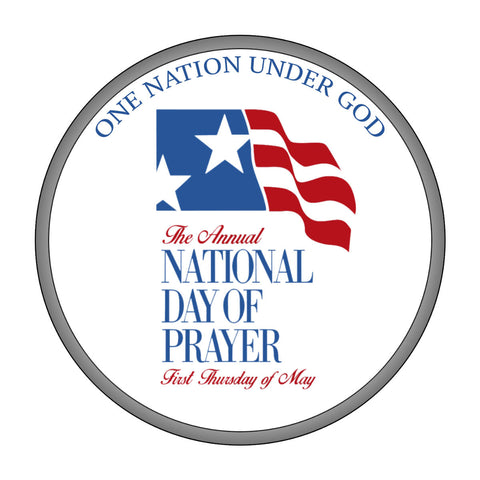 National Day of Prayer Round Window Cling