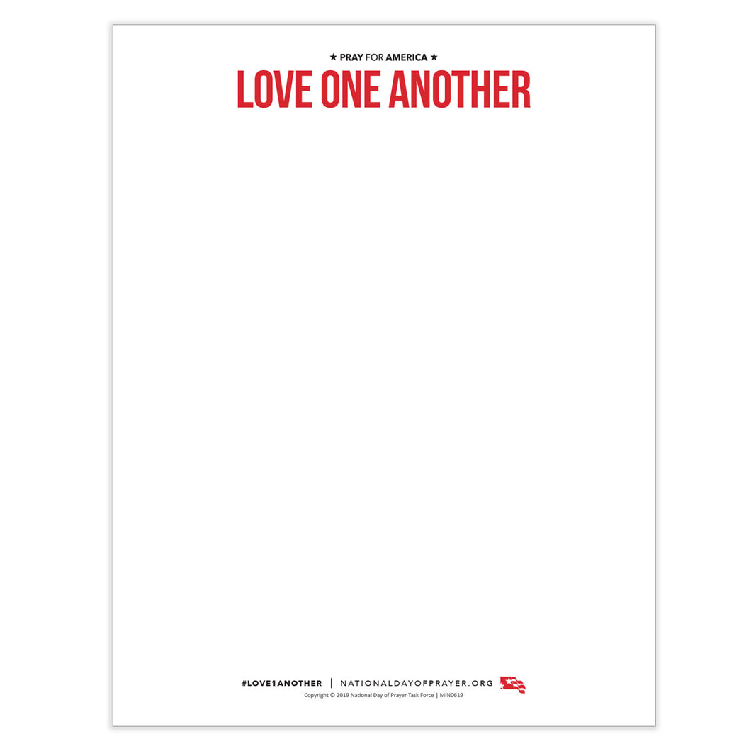 National Day of Prayer -  Love One Another Theme Letterhead
