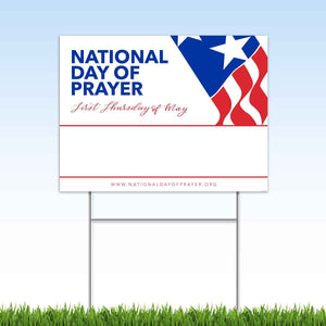 National Day of Prayer Yard Sign (4 Pack)