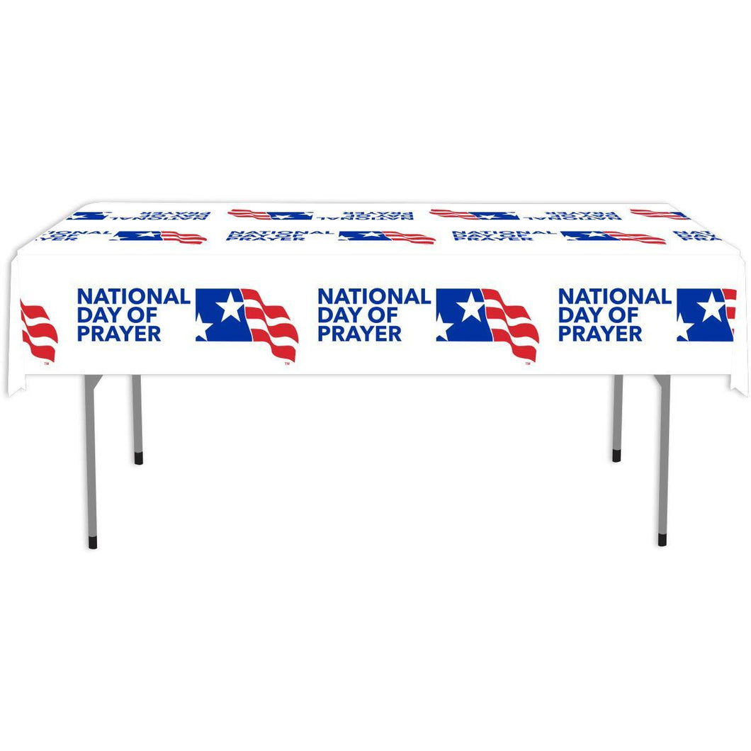 NDP Plastic Table Cloth - Logo