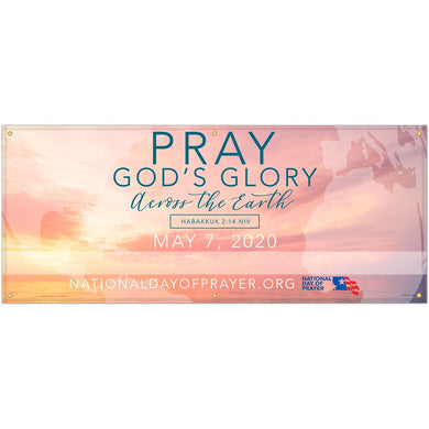 NDP Vinyl Banner Pray God's Glory 2020