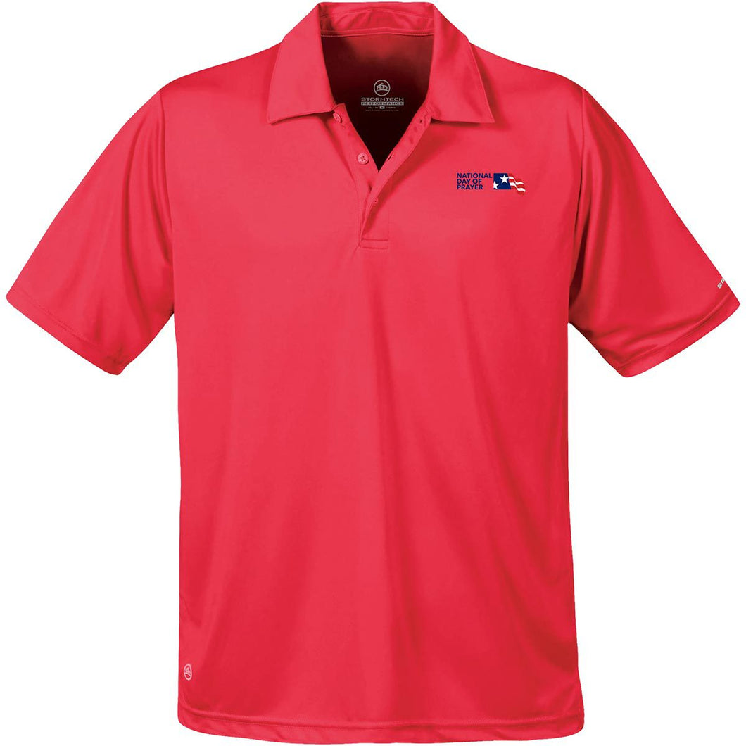 NDP Men's Polo - Scarlet Red