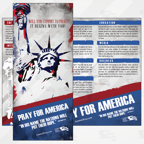 NDP Pray For America Prayer Guides (Pkg of 100)