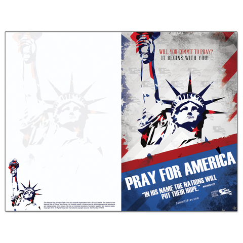 NDP Pray For America Program Covers (Pkg of 100)