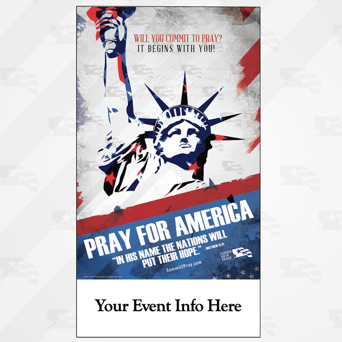 Pray For America Small Poster 10 x 18
