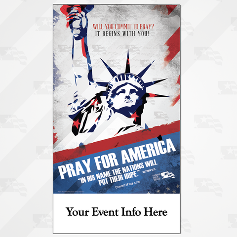 NDP Pray For America Small Poster 10 x 18