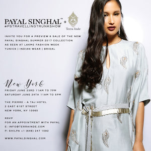 Payal Singhal X Terra Inde Summer 2017 Trunk Show