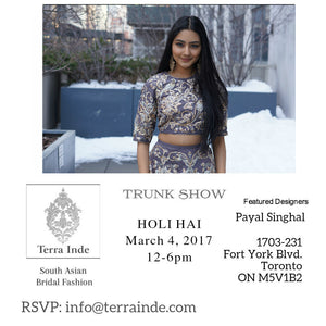 Terra Inde X Payal Singhal Trunk Show in Toronto