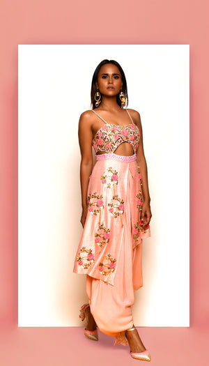 PDP Blush Dhoti Jumpsuit
