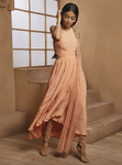 Shloka Khialani Peach Ciel Kurta Set