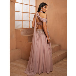 Shloka Khialani Lilac La Rose Gown