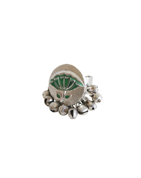 Hyperbole Green Lotus Ring