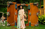 Priyanka Jain Peach Kurta Sharara Set