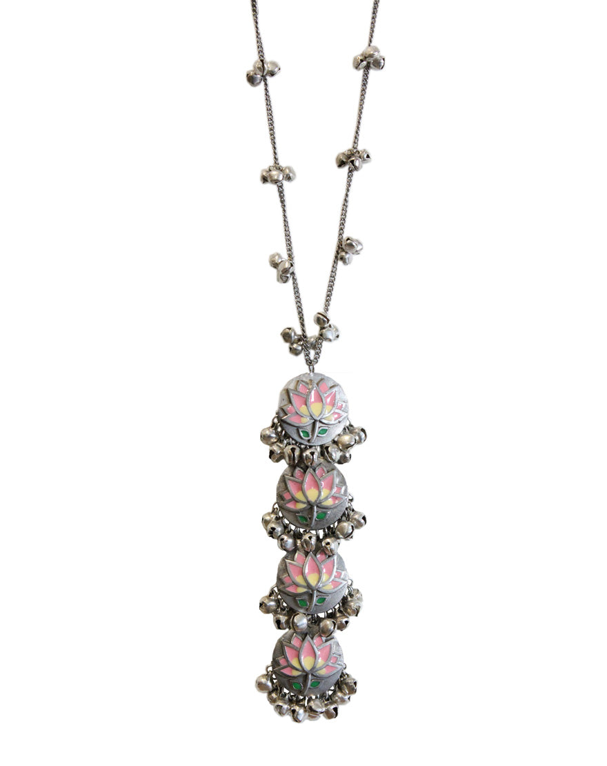 Hyperbole Pink Lotus Long Necklace