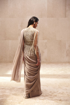 Ridhi Mehra Dripping Pearls Saree