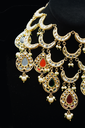 ReeMat Multicolor Statement Necklace Set