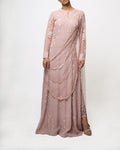 Reeti Arneja Sheer Pink Floor Length Kurta