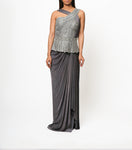 Reeti Arneja Ash Grey Saree Set