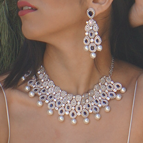Reemat Legacy Bridal Diana Necklace & Earrings Set