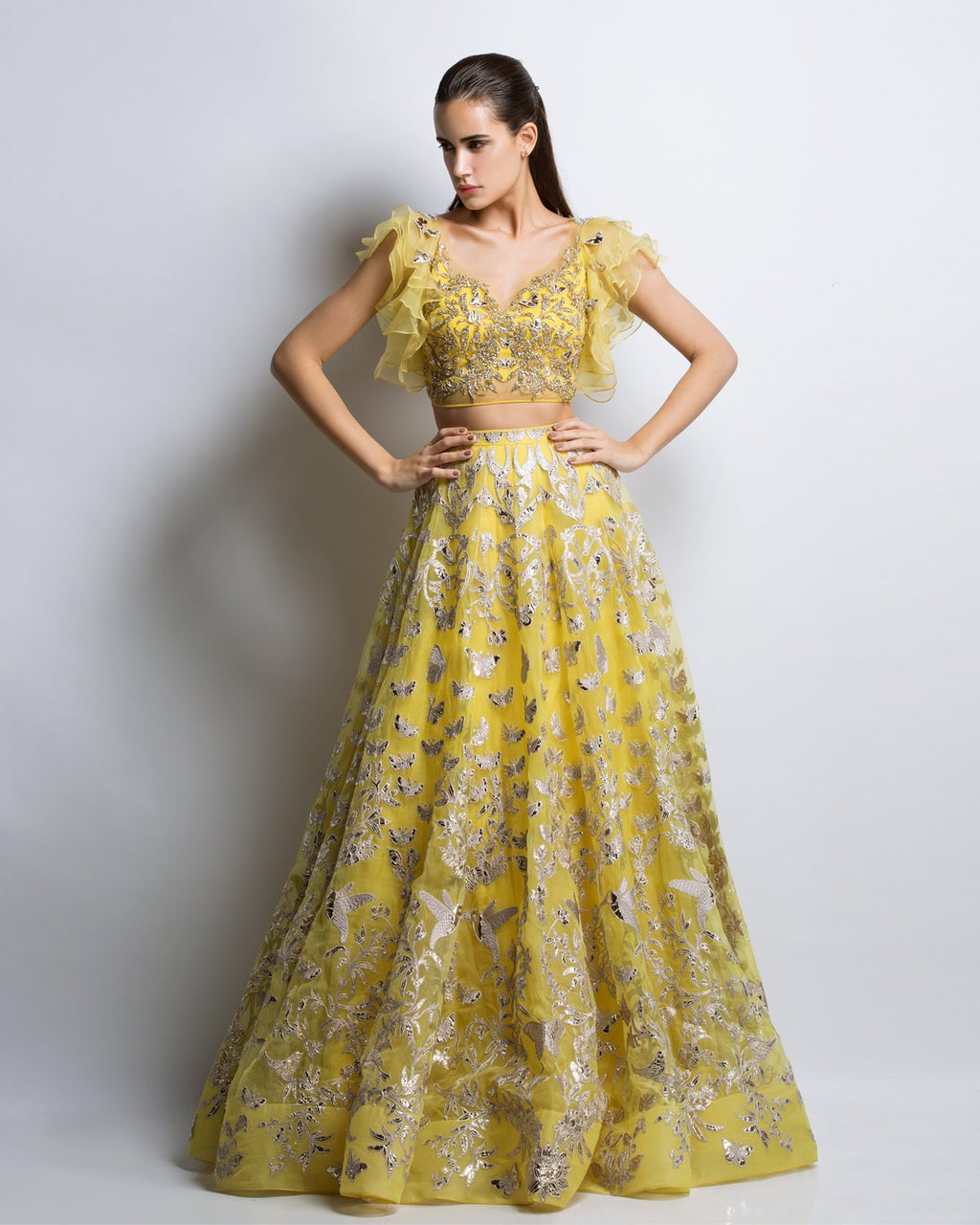 Deme Buttercup Yellow Lehenga