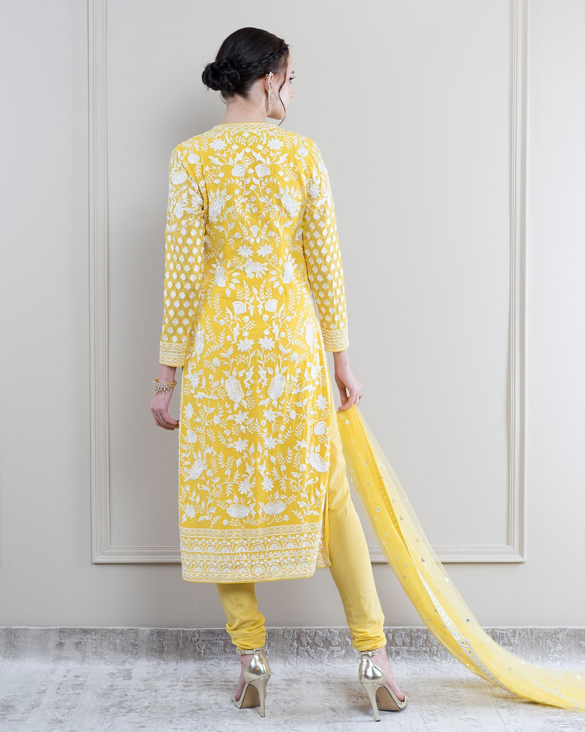 Falguni Shane Peacock Kendall Canary Yellow Kurta Set