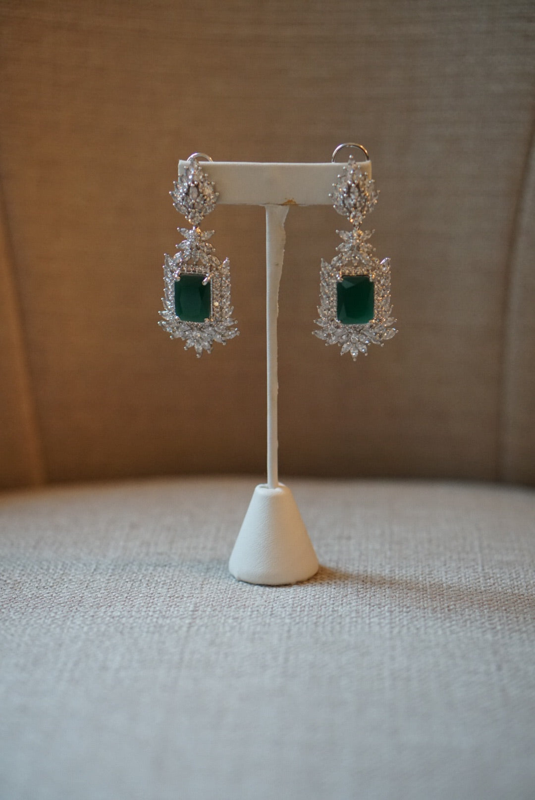 ReeMat Faux Emerald Earrings