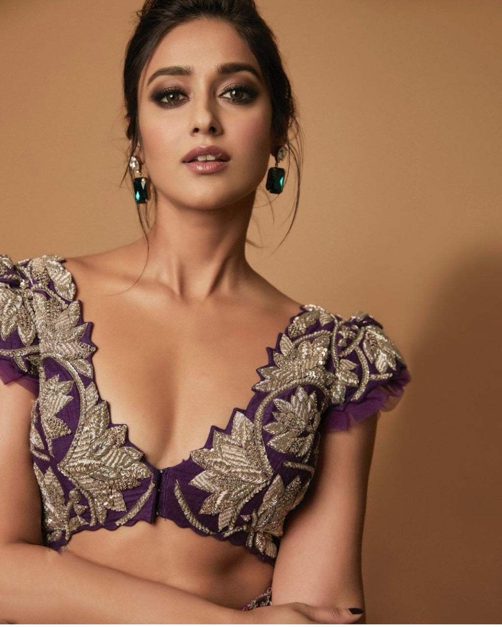 Mrunalini Rao Royal Purple Ileana Lehenga