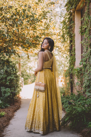 Sushma Patel Renna  Golden Yellow  Lehenga